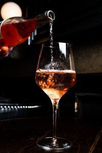 liquor pours in wine glass